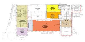Photo du plan du 2ème étage du palais des congrès de Grasse