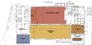 Photo du plan du 3ème étage du palais des congrès de Grasse